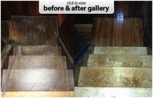 hardwood stair restoration